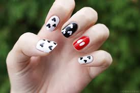 lipstick + lacquer: Nail of the Day: Mickey Mani