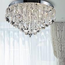 new design led crystal chandeliers home light chandelier flush mount crystal semi flush mount lighting