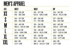 Mens Sizing Chart Ohlala Boutique Tracksuit Set
