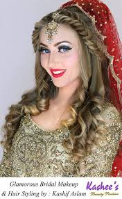 glamorous bridal makeup and hair styling by kasheeu0026 39 s womenstyle pk