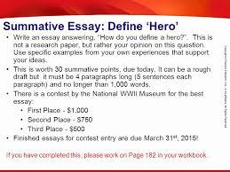 origins of the vietnam war chapter section ppt  summative essay define hero