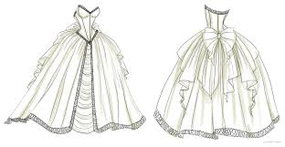 How To Draw Cartoon Wedding Dresses