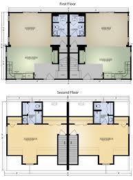 log cabin duplex floor plans