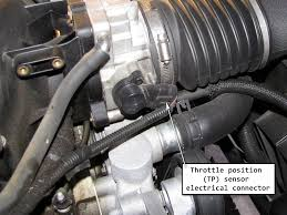 chevy throttle position sensor. disconnect the tps wiring harness first. chevy throttle position sensor