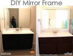 bathroom mirror frame tile. Wonderful Tile Diy Framing A Mirror With Tile Unique Bathroom Improve The  Value Your For Frame