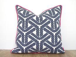 Blue outdoor pillow cover sailing theme nautical outdoor