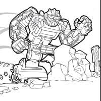 Small Picture PLAYSKOOL Heroes Transformers Rescue Bots Coloring Page Chase