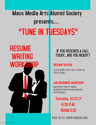 Resume Workshop Awesome Resume Writing Workshop January 24 24 2424 Pm Mass Media