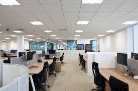 lighting in an office. led lighting office in an i