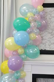 diy balloon garland kit unicorn mane