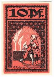 Германия нотгельды merseburg Мерзебург пфеннигов год  Германия нотгельды merseburg Мерзебург 10 пфеннигов 1921 год контрольный номер черный