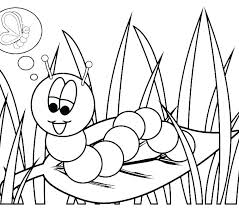 Hungry Caterpillar Butterfly Coloring Page Very Hungry Caterpillar