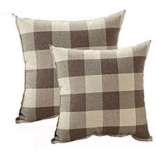 plaid decorative pillows. Exellent Pillows Tealp Plaid Throw Pillow Cover Linen Cotton Decorative Case Home  Sofa Cushion Set 2 On Pillows O