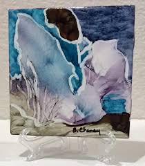 alcohol ink works on a wide variety of materials and surfaces like yupo or bristol paper glass canvas metal and ceramic tiles