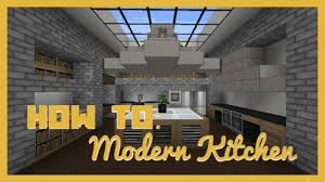 Minecraft Modern Kitchen How To Build Modern Kitchen Minecraft Youtube