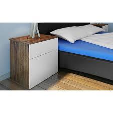 Nur 6574 1 Schublade Nachttisch Schlafzimmer Tabelle Braun Weiß