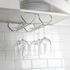 Metal wine glass rack Kitchen Ksp Under Cabinet Wine Glass Rack chromewire Itc Marine Ksp Under Cabinet Wine Glass Rack chromewire Kitchen Stuff Plus