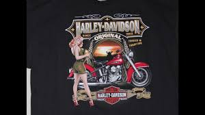 largest harley davidson t shirt collection youtube