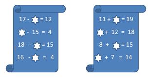 класс урок на тему Устный счет на сложение и вычитание по  Устный счет вычитание