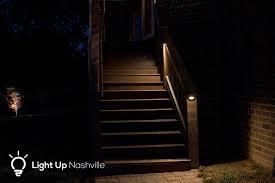 deck lighting on steps