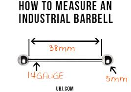 Barbell Length Chart Urbanbodyjewelry Com Blog Industrial Barbell Piercings And