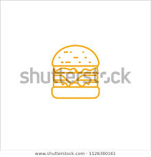 fast food restaurant logos crown. Perfect Crown Outline King Burger With Crown Logo Vector Template Simple  Logo Isolated To Fast Food Restaurant Logos Crown