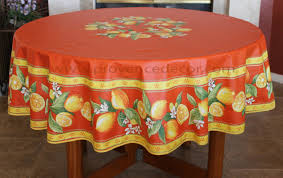 lemon orange round rectangle cotton french provence tablecloths french country table decor home decor gifts matching napkins available