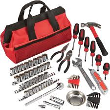 Ironton Tool Bag Set  70-Pc., 1/4in. and 3