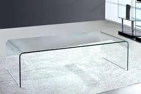 bent glass coffee table enticing viva modern arch large waterfall coffee table bent glass curved bent
