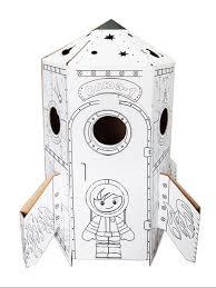 """Картонный <b>игровой домик</b> раскраска 3D """"Ракета"""" <b>Балуем и</b> ..."""