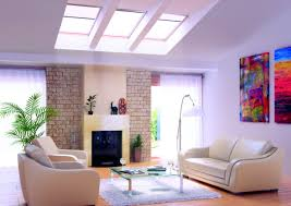Modern Living Room With Skylight Astounding Lively Lovely And