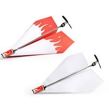 airplane rc folding paper model diy motor power red plane kids boy toy diecast air aircraft