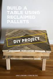 chevron shaped pallet table project
