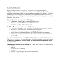 Resume For Grad School Admission Resume Sample With Graduate