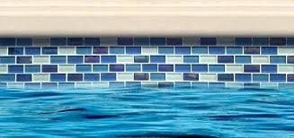 best tile for pool waterline glass mosaic