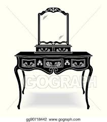 mirror frame drawing. Vintage Dressing Table And Mirror Frame Drawing P