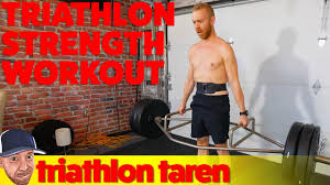 3 month triathlon strength program with demonstrations of all exercises
