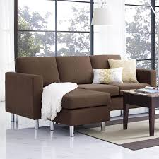 small space sectional sofa. Here We See The Same Couch In A Rich Brown Microfiber Upholstery. Sofas Also Small Space Sectional Sofa O
