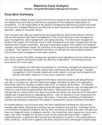 Business Executive Summary Template