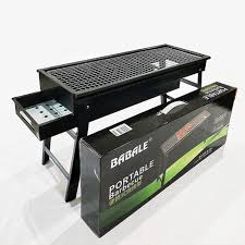 new <b>large folding bbq</b> barbecue portable charcoal grill 6c001