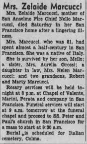 Zelaide Marcucci Obit. - Newspapers.com