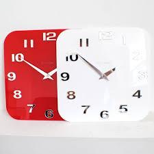 Small Picture Gloss WhiteRedBlackSilver Modern Kitchen Retro Wall Clock UK