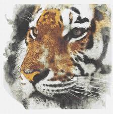 Cross Stitch Chart Large Tiger Big Cat Watercolour Painting Splatter Stitchy Wonders Embroidery Art Cross Stitch Chart Download Pdf