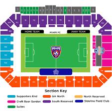 Miami University Football Stadium Seating Chart Seating Map Miami Fc