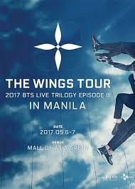 2017 bts live trilogy iii the wings tour in manila pulp live world