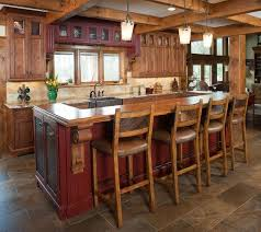 Rustic Kitchen Island Incomparable Rustic Kitchen Island With Seating Also Oil Rubbed