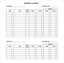Online Ledger Template 32144912750561 Free General Ledger