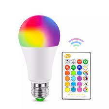 E27 Bluetooth RGB LED ampul lamba LED lamba IR uzaktan kumanda ile ampul  kapalı ev dekor akıllı IC aydınlatma lambası|LED Bulbs & Tubes