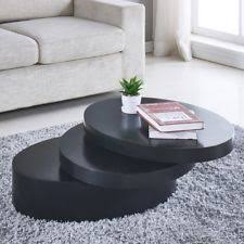 round black coffee table. Unique Black Round Black Coffee Table Rotating Contemporary 3 Layers Living Room  Furniture With