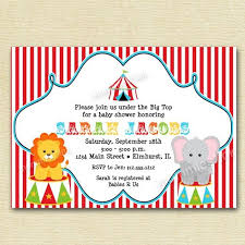 Circus Party Invitation Delectable Circus Baby Shower Invitation Big Top Invitation Circus Invitation